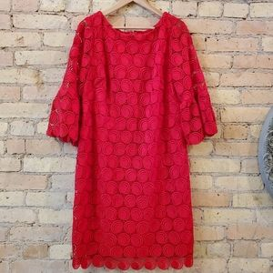 Talbots Dresses - RSVP by Talbots Embellished Red Lace Dress